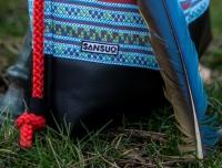 Rucksack-Handtasche bluindiano